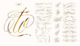 Нарисованный рукой комплект татуировки Стоковые Изображения RF