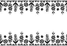 Нарисованный рукой милый холст вектора Элементы простого doodle флористические Sc Стоковые Фотографии RF