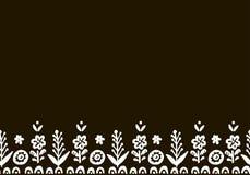Нарисованный рукой милый холст вектора Элементы простого doodle флористические Sc Стоковая Фотография