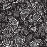 Нарисованный рукой орнамент Пейсли. Стоковое Изображение
