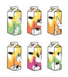 Нарисованный рукой пакет сока лета установленный Vector художнический томат иллюстрации, морковь, огурец, тыква, яблоко, пить бур Стоковые Фото