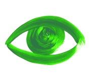 Нарисованный рукой символ глаза покрашенный значок глаза Стоковые Изображения