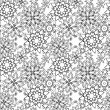 Нарисованный рукой стиль флористических doodles zentangle племенной Стоковое фото RF
