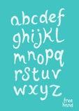 Нарисованный рукой текст алфавита вектора Стоковое Изображение