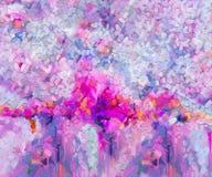Нарисованный рукой ход щетки, картины цвета масла Картины маслом современного искусства для предпосылки Стоковое фото RF