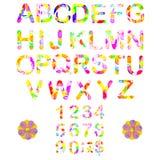 Нарисованный рукой шрифт акварели для вашего дизайна Стоковые Изображения RF