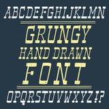 Нарисованный рукой шрифт вектора Стоковые Фото