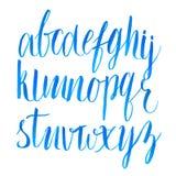 Нарисованный рукой шрифт сценария щетки Тип вектора Стоковые Фотографии RF