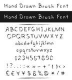Нарисованный рукой шрифт щетки Стоковая Фотография