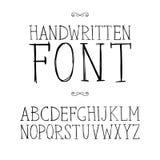 Нарисованный рукой шрифт serif Стоковое Изображение