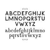 Нарисованный рукой шрифт serif Стоковое Изображение RF