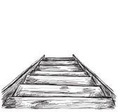 Нарисованный рукой эскиз лестниц Стоковое фото RF