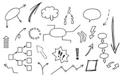 Нарисованный рукой элемент doodle: диаграмма, диаграмма, диаграмма Заработки аналитика дела и финансов концепции Стоковые Фотографии RF