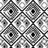 Нарисованный рукой monochrome стиля племенной Стоковые Изображения