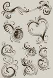 нарисованный собранием орнамент руки Стоковые Фото