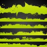 Нарисованный цвет Grunge кисловочный брызгает комплект Стоковое фото RF