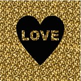 нарисовано Надпись влюбленности покрашенная на сусали предпосылки иллюстрация вектора