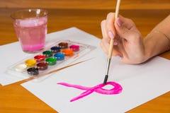 Нарисовать на таблице Стоковое Фото