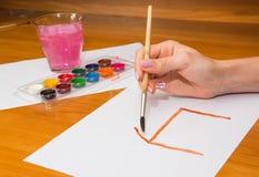 Нарисовать на таблице Стоковая Фотография RF