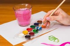 Нарисовать на таблице Стоковое Изображение