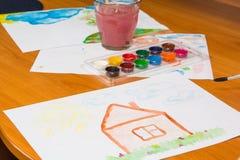 Нарисовать на таблице Стоковые Изображения