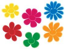 нарисуйте руку цветков Стоковое Фото