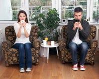 Наркомания мобильного телефона Стоковые Изображения RF