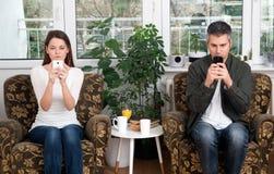 Наркомания мобильного телефона Стоковые Изображения
