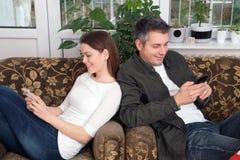 Наркомания мобильного телефона Стоковая Фотография RF