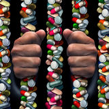 Наркомания отпускаемого по рецепту лекарства Стоковые Изображения RF
