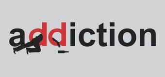 наркомания иллюстрация вектора