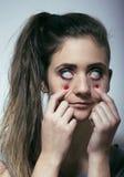 Наркоман лекарства молодой женщины Стоковое Изображение RF