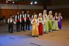 Народный танец в Maglaj стоковое изображение