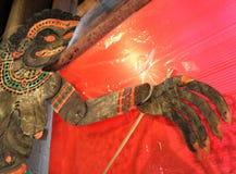 Народное искусство гигантского солдата в марионетке тени Ramayanan Стоковое фото RF
