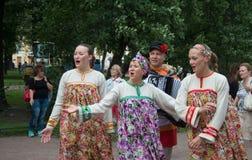 Народные песни на открытом воздухе Стоковая Фотография