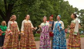 Народные песни на открытом воздухе Стоковое Изображение