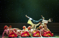 народный танец Гусын-пера вентилятор-китайский Стоковые Фото