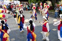 Народный танец Кореи Стоковое Изображение RF