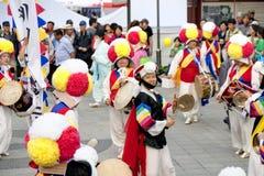 Народный танец Кореи Стоковые Фотографии RF