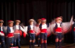 Народный танец ребенк эгейский Стоковое Изображение