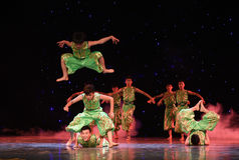 Народный танец соотечественника лошади- vaulting Стоковое фото RF