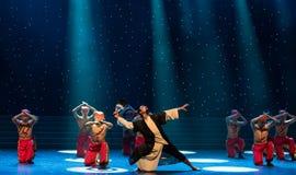 народный танец peerless геро-Гусын-пера вентилятор-китайский Стоковые Изображения RF