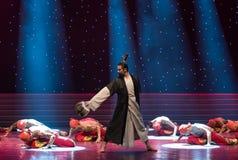 народный танец peerless геро-Гусын-пера вентилятор-китайский Стоковое Фото