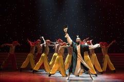 народный танец peerless геро-Гусын-пера вентилятор-китайский Стоковое фото RF