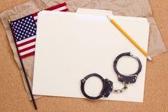 наручники американского флага стоковые фото