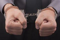 наручники арестования Стоковая Фотография