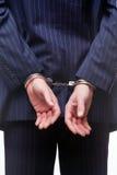 наручники бизнесмена Стоковая Фотография RF