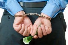 наручники бизнесмена Стоковые Изображения RF