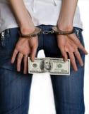 наручники взяткой Стоковое Изображение