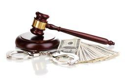 наручники доллара кредиток Стоковые Изображения